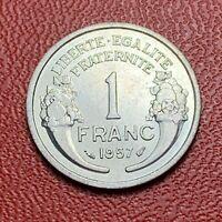 #3708 - RARE - 1 franc 1957 Morlon SPL sortie de rouleau - FACTURE