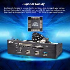 "5.25"" Card Reader Media Dashboard PC Front Panel USB3.0 USB2.0 Audio Ports J5M3"