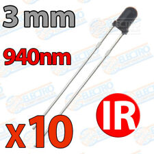 10x LED IR 3mm receptor infrarrojo fototransistor infrared 940nm