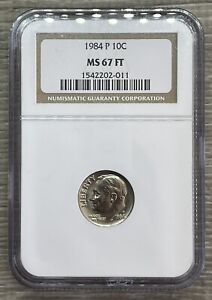 1984-P Roosevelt Dime 10c NGC MS67 FT Full Torch (ZIG-6)