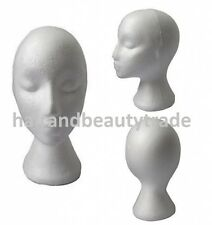 Female Styrofoam / Foam Mannequin Head / Stand Model Display FREE FAST TRACKED!!