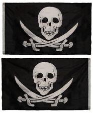 3x5 Calico Jack Rackham Pirate Skull 2ply Nylon Double Sided Flag 3x5ft Banner