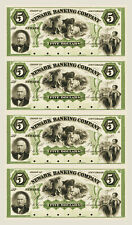 Newark, New Jersey - Newark Banking Company $5-$5-$5-$5 Uncut Proof Sheet COPY