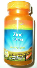 Thompson Zinc 50 mg High Potency Immune System Support Supplement 60 Tablets
