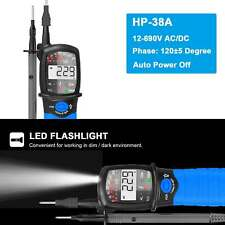 Hp 38a Led Digital Voltage Continuity Tester Auto Range Lcd Phase Rotation Meter
