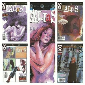 °JESSICA JONES: ALIAS #24-28 PURPLE 1 bis 5 von 5°US Max Comics 2003 B.M.Bendis