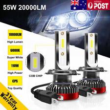 110W 20000LM H7 Car LED Headlight Lamp Bulb Mini Size Replace Xenon Kit 6000K