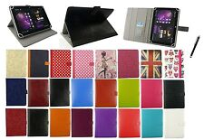 "Universal Multi Angle Wallet Case Cover Folio for 9.7"" & 10"" Tablet & Stylus"