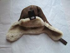 UGG Hat Trapper Aviator Sheepskin Chestnut Bomber L XL NEW