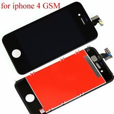For iPhone 4 Black LCD Display Touch Screen Glass Digitizer Frame Assembly VCXZ