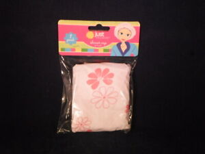 NEW Just Because Plastic SHOWER CAP/HAT Protects Hair ReUSEable Pink         A19