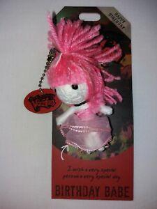 Watchover Voodoo Doll BIRTHDAY BABE Keyring Birthday Gift Emo - Brand New