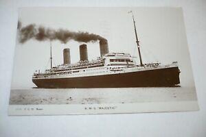 RMS MAJESTIC POSTCARD