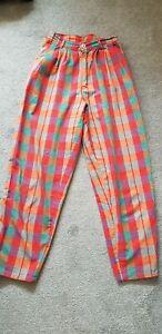 Vintage Multicolour Check Trousers xs / s