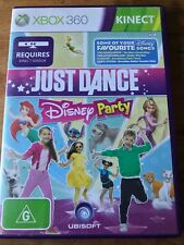 JUST DANCE DISNEY PARTY XBOX 360 ORIGINAL KINECT GAME AUS PAL VGC FAMILY KIDS