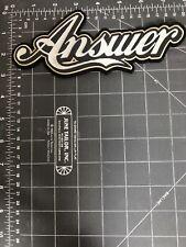 Answer Script Logo Patch Rubber Motocross MX Gear Dirt Bike Off Road Motorcycle