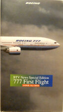 Boeing BTV Special Edition 777 Airplane First Flight from June 12, 1994 VHS Tape