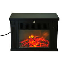 HOMCOM 1000W Electric Fireplace Fire Flame Stove Heater Portable Home Glass View