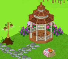 Webkinz Pet Specific Items- Countryside Gazebo, Carved Lamppost, Picnic Basket