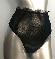 Victorias Secret Nwt Black Lace Dream Angels High Waist Sexy Thong Panty S M L