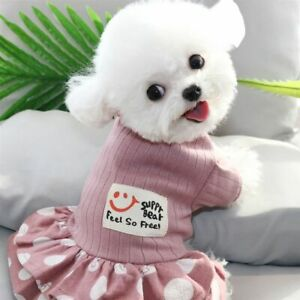 Summer Pet Clothes Dot Dogs Dress For Dogs Skirt Summer Dog Wedding Dresses