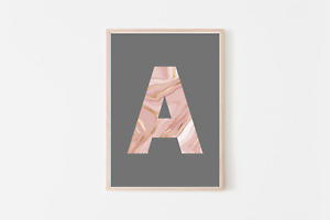 Letter / Initials Prints | Posters | Home Decor | Interior | Home Accessories