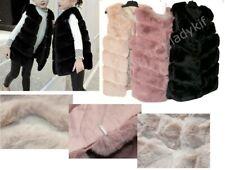 GILET fausse fourrure FILLE ENFANT simili cuir manteau veste printemps doudoune