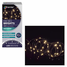 Christmas 100 Micro Brights Battery Timer LED Lights Indoor/Outdoor - Warm White
