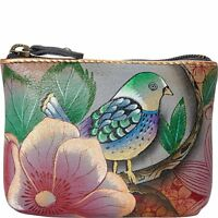 New Anuschka High Quality Leather Hand painted Womans Coin Pouch Wallet