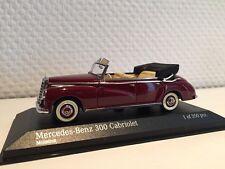 MERCEDES Benz 300 CABRIOLET w186 1952 1:43 MINICHAMPS NEUF & OVP 437032131