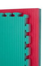 Cannons UK 40mm TATAMI Jigsaw Judo Martial arts gym sports mats RED AND GREEN