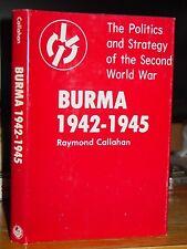 Burma 1942-1945, Politics and Strategy WWII U.S. Britain Indian Army