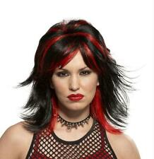 BLACK RED ROCKER WIG COSTUME MR179512 NEW