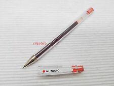 Pilot Hi-Tec-C G-Tec-C 0.3mm Ultra Fine Roller Rollerball Gel Pen, Tomato Red