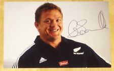 GREG SOMERVILLE NEW ZEALAND ALL BLACKS RUGBY HAND SIGNED AUTOGRAPH PHOTO