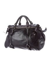 $2 095 Miu Miu Lux distressed leather satchel hobo bag handbag messenger