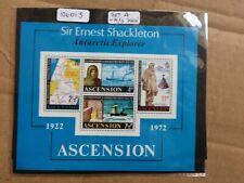 Ascension 1972 50th Anniversary Shackleton Death (SG MS 163 +159-162) MNH