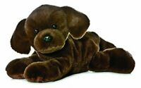 Aurora World Mini Flopsie Lil Lucky Chocolate Labrador Plush Toy Brown