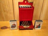 Vintage metal kitchen match holder & Eddy Red Bison box + 2 safety match boxes