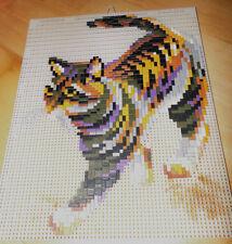 Ministeck Steine Bilder gesteckt Bild Motiv 26x33 cm Katze Hauskatze gehend