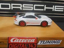 Carrera Digital 143 Porsche Carrera GT3 RSR Tuning Motor Reifen Magnet CUP-Weiß