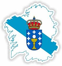 Sticker Silhouette Galicia Spain Map Flag for Bumper Car Truck Laptop