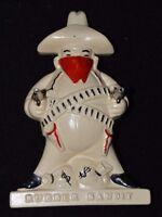 Vintage Mid Century Kitsch Rubber Bandit Rubber Band Keeper Plaster Decoration
