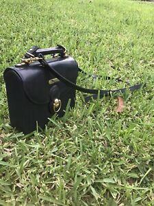 Polo ralph lauren Vintage Crossbody HORSE Purse Handbag Shoulder Bag Firm Padded