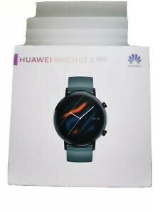 Huawei Watch GT 2 42mm Black Stainless Steel Case with Lake Cyan …