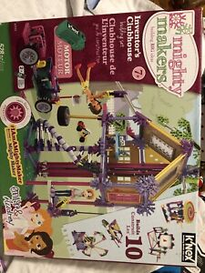New K'NEX Mighty Makers Inventor's Clubhouse Building Set Toy 528 pcs