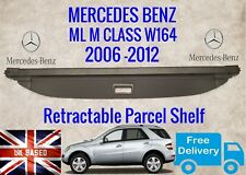 *NEW* MERCEDES ML M CLASS W164 LOAD COVER PARCEL SHELF BLIND BLACK 2006-2012