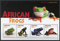 Tanzania Amphibians Stamps 2015 MNH African Frogs Poison Dart Frog 4v M/S II