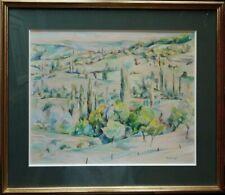 Charles Mérangel 1908-1993 paysage cubiste c1950. Ecole de Paris Gleizes Pouyaud