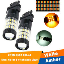 FIT For Chevy Silverado 1500 2500 White/Amber Switchback LED Turn Signal LightX2